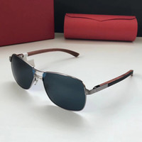 Luxury 8200817 Sunglasses Square Frame Metal Popular UV Prot...