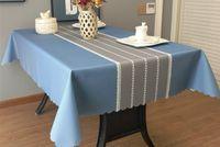 PVC toalha impermeável anti-engomar e lavagem mesa cor sólida da arte de pano mesa de chá retangular mat simples toalha de mesa moderna