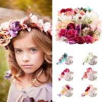 6colors Bride Women Flower Crown Hair Band Wedding Floral He...
