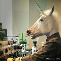 Carino Unicorno Maschere In Lattice Animale Testa di Cavallo Maschera Mascherata Per Halloween Unicornio Costume Fancy Creativo Popolare Vestito Prop 21sr CB