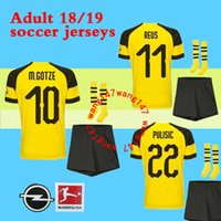 best quality 18 19 men Set + sock Dortmund soccer jersey kits...