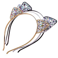 Sirenxi Baby Festival Deedband Princess Crown Crystal Pierced Cat Ears Hoop Girl Fiesta Rhinestone Accesorios para el cabezal Cabeza