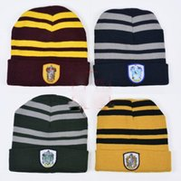 Harry Potter Winter Beanies Fashion Magic School Knitted Bea...