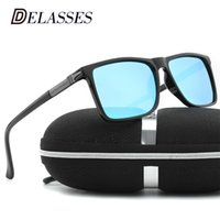 22cac7d6d95a7 DELASSES Alumínio Magnésio Polarized Óculos De Sol Dos Homens Drive Espelho  Óculos de Sol Masculino Óculos