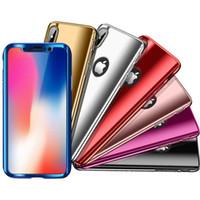 360 grados de galvanoplastia Espejo dura de la PC de caja del teléfono delgada de la cubierta para el iPhone Pro Max 11 11 XS Pro Max XR X 8 7 6 Plus
