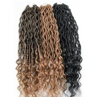 New Fashion Goddess Curly Faux Locs Hair Extensions 24 roots...