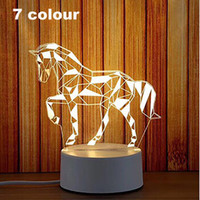 3D Led Night Light Change Novelty Table Lamp Home Decor Beds...