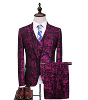 2018 الخريف رجل s دعوى عالية الجودة الرجال الدعاوى الأزياء المطرزة الدعاوى رجال الأعمال بدلة الزفاف الرجال الحجم الكامل S-5XL