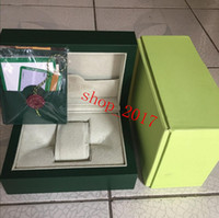 transporte de luxo livre assistir Mens Para ROLEX Watch Box Original Inner Outer Womans Relógios Caixas Homens Relógio de pulso verde cartão de caixa de livreto 889