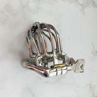 Dispositif de chasteté masculin de conception de mode de 50mm avec l'urètre de métal sonne le cathéter de spike anneau BDSM jouets de sexe pour les hommes esclave de sexe