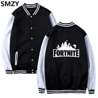 SMZY Fortnite Baseball Jacket Hoodies Sweatshirt Tops Pullov...