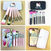 7pcs set Cartoon Makeup Brushes Set Hello Kitty Cartoon Make...