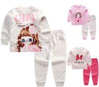 100% Pamuk Bebek Çocuk Kız Erkek Kıyafeti Pijama Pijama Pijama Takım için 0-5 yıl 36 stilleri seçin