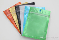 2018 new colored Resealable Zip Mylar Bag Aluminum Foil Bags...