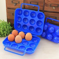 12pcs Egg Storage Box Portable Carry Plastic Container Holde...