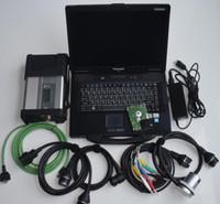 Para MB SD Connect Compact Star Diagnóstico C5 com HDD com laptop CF52 4G Conjunto completo Todos os cabos para carros e caminhões