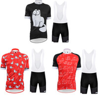 d5f59760c UCI Team 2018 Cartoon Cat Cycling Jersey 9D GEL PAD Bike Shorts Set MTB Mens  Summer Ropa Ciclismo Cycling Wear Pro BICYCLE Maillot Culotte