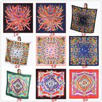 뜨거운 능 직물 실크 레이디 패션 스카프 130cm 큰 수건 패션 목도리 스카프 실크 디자이너 스카프 인쇄