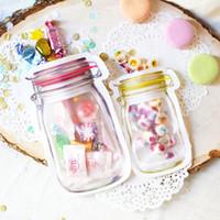 Effacer transparent Zip Lock Mason en forme de sac de bonbons Party Favors Cadeaux sacs Cookie Snacks Stockage des aliments Boîte en plastique refermable