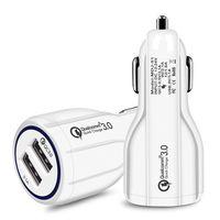 9V 2A 12V 1.2A QC3.0 CARGA DE COCHE FÁCIL COMPLETO 2.4A DUAL USB Cargador de teléfono de carga alta