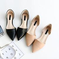 912986d70 2018 primavera novo, simples, sapatas do viajante de bilhete mensal, chumbo  das mulheres, sapatos simples, oco versão coreana, sapatos baixos sola  rasas.