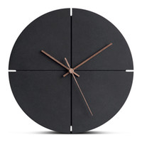 12 Inch Large Wooden Hanging Wall Clock Silent MDF Wood Euro...