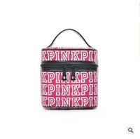 Women Handbag Pink Cosmetic Bags Makeup Bag Love Classic Por...