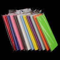 19.7cm desechable Bubble Tea grueso arco iris de papel de consumición del banquete de boda del cumpleaños Bar pajas para el envío libre