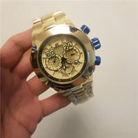 27fafae7362 Mais recente Chegada INVICTA S1 homens relógio de aço Inoxidável completo  de 52mm de ouro Todos