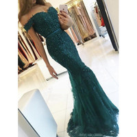 New Green Elegant Appliques Evening Dresses 2019 Robe De Soi...
