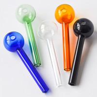 Pyrex الأنابيب الزجاجية الملونة الزجاج النفط الموقد التدخين الملحقات الزجاج أنبوب النفط مسمار التدخين الأنابيب شحن مجاني