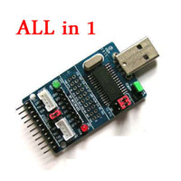 Freeshipping ALL IN 1 CH341A USB to SPI/I2C/IIC/UART/TTL/ISP Serial Adapter Module EPP/MEM converter for Serial Brush debugging RS232, RS485