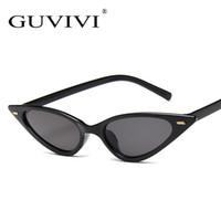 c1f06c2141 Pequeñas gafas de sol de ojo de gato Mujeres Nuevo Sexy remache lindo  Triángulo de color rojo negro Cateye gafas de sol para hombres Mujeres  Cheap Eyegalss