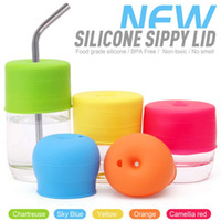Silicone Sippy Cup Lids Straw Spill Proof Cup Cover for Wate...