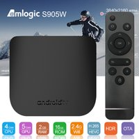 M8S Plus W Android 7.1 TV Box Amlogic S905W 1GB 2GB Ram 8GB 16GB Rom Smart Media Player Поддержка Stalker Mag25X 2.4G Wifi Better MXQ Pro