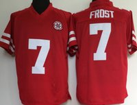 Billig Nebraska Huskers 7 Scott Frost College Football Trikots Vintage Red 7 Scott Frost University Stitched Football Hemden S-XXXL