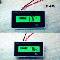Freeshipping 12 v 24 v 36 v 48 v 72 v 60 v indicatore di batterie al litio batterie al litio voltmetro digitale capacità della batteria + custodia