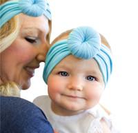 Bebê Turbantes mãe e bebê headbands definir infantil nó não faça banda de cabeça macio bola de largura bonito acessórios para o cabelo recém-nascidos adereços fotografia