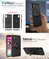 für iPhone x xr xs max 7 8 6s plus Telefon Fall Magnetic Suction Autotelefonhalter Fall Fingerring weichen Telefon Fällen