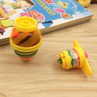لعبة الأطفال الملونة فلاش الصمام الخفيفة الغزل الأعلى الليزر جيروسكوب كيد مضيئة الدوران YH1538