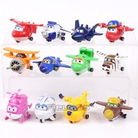 Super Wings Mini Planes Toys Deformation Airplane Robots Don...