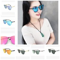 metal one Piece Lens Sunglasses Women Men One Piece Sunglass...