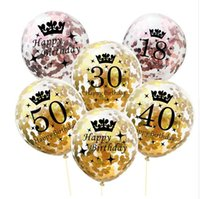Inflatable Confetti Balloons 12 Inch Latex Clear Birthday Ba...