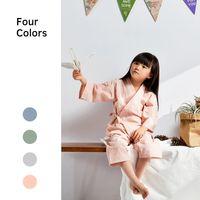Детский Японский стиль пижамы хлопок мальчики девочки домашняя одежда костюм весна и осень спальный костюм