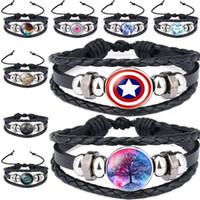 13 Série Cabochon en verre Bracelet Unicorn maman Game of Thrones Loup Hero Zodiac Arbre de vie de Noël Multilayer Wrap Bracelet Will et Sandy