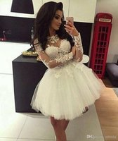 White Ball Gown Cocktail Dresses Homecoming Dresses 2017 New...