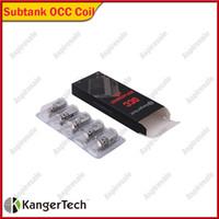 Les bobines verticales des bobines SSCCC de Kanger Subtank conduisent les bobines organiques de coton de Kangertech de 0.5 /1.2 / 1.5ohm 100% Original