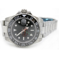 Luxury Brand Mens Watch Sapphire Glass Ceramic Bezel GMT Sta...