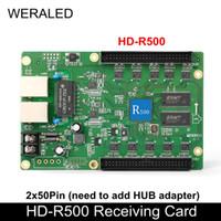 Schermo di visualizzazione video a LED Full Color Huidu HD-R500 Asincronizzazione Scheda di ricezione RGB 2x 50 pin (necessario aggiungere l'adattatore Hub per funzionare)
