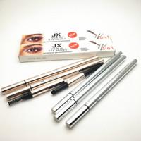Longue durée maquillage stylo à sourcils 3D 3 en 1 crayon à sourcils coussin d'air poudre à sourcils pinceau sourcils cosmétique étanche maquillage stylo yeux